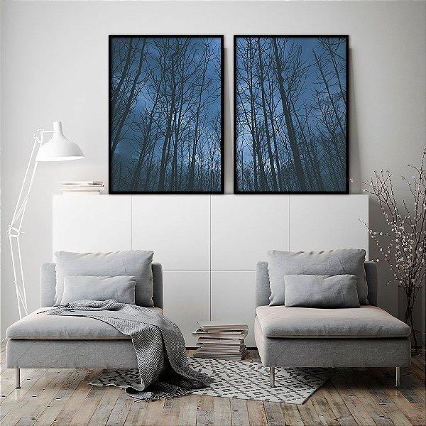Conjunto com 02 quadros decorativos Anoitecer