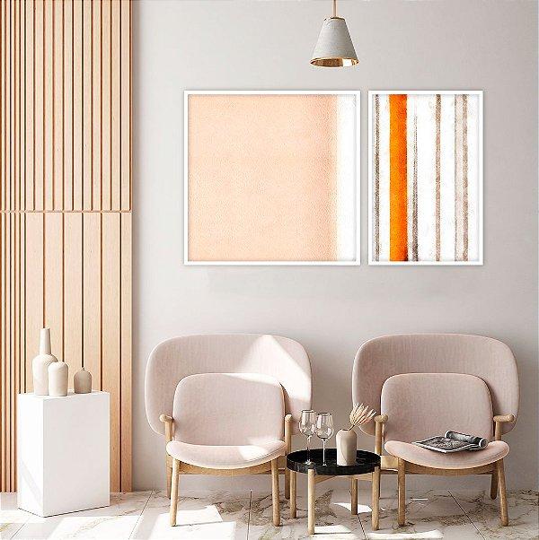 Conjunto com 02 quadros decorativos Colors