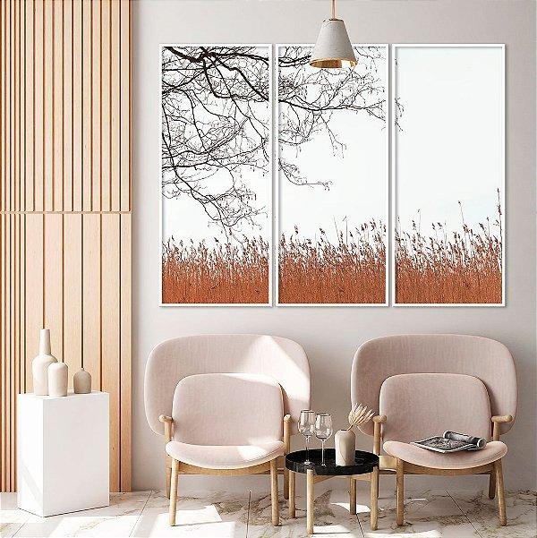 Conjunto com 03 quadros decorativos Calma