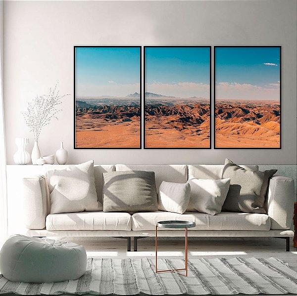 Conjunto com 03 quadros decorativos Horizonte