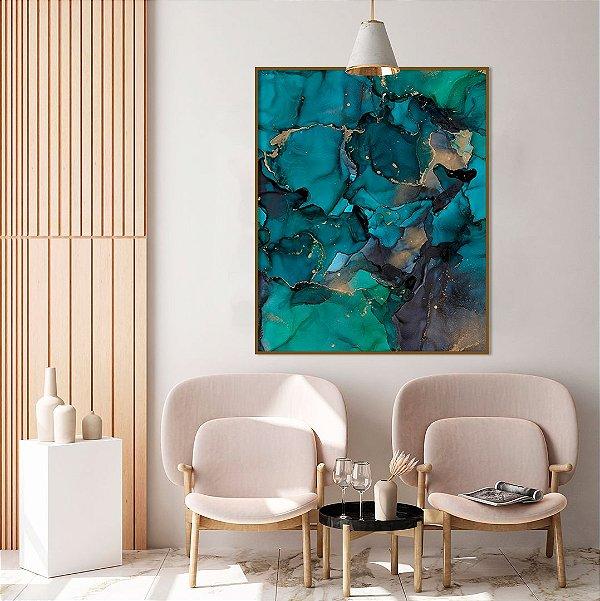 Quadro decorativo Abstrato Verde Esmeralda
