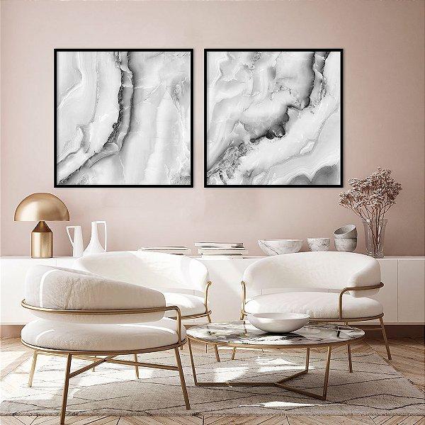 Conjunto com 02 quadros decorativos Pedra