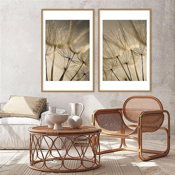 Conjunto com 02 quadros decorativos Delicadeza
