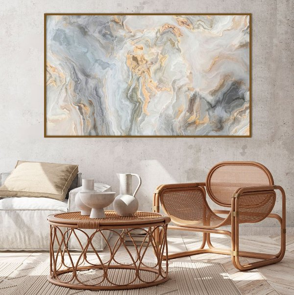 Quadro decorativo Abstrato com Tons Suaves