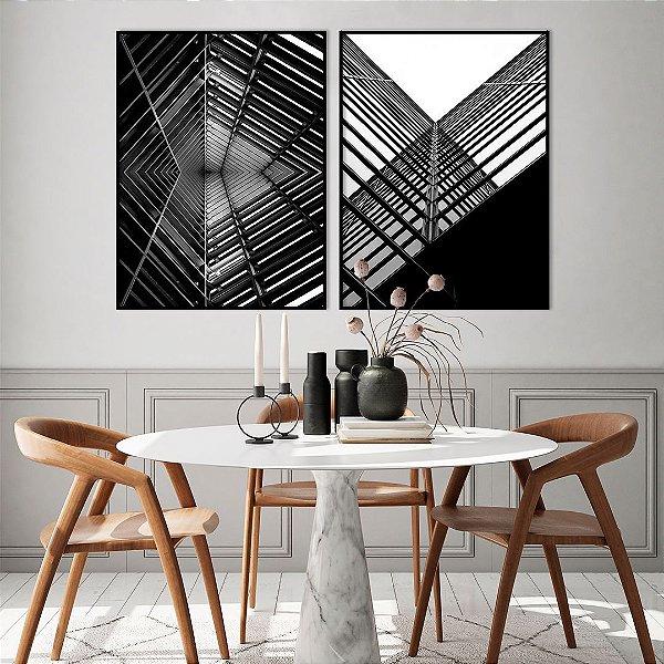 Conjunto com 02 quadros decorativos Urbano