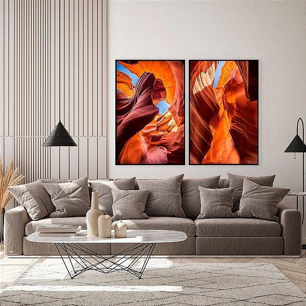 Conjunto com 02 quadros decorativos Canyon