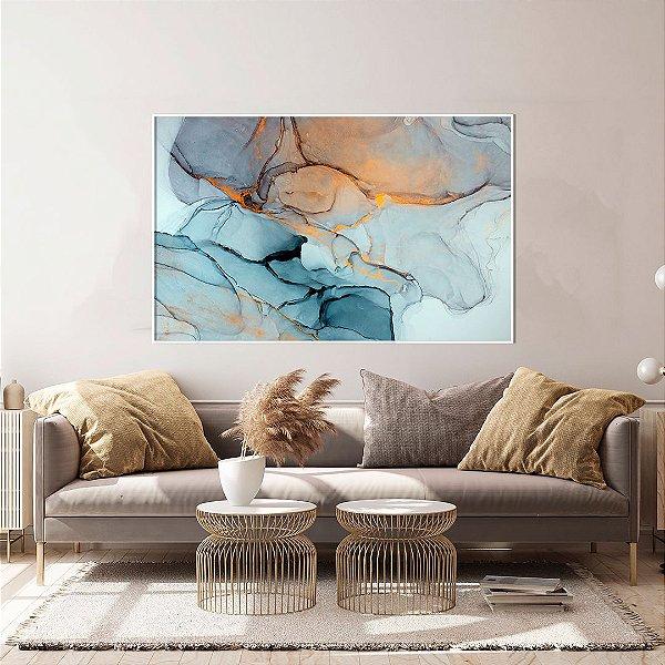 Quadro decorativo Abstrato Azul Gold
