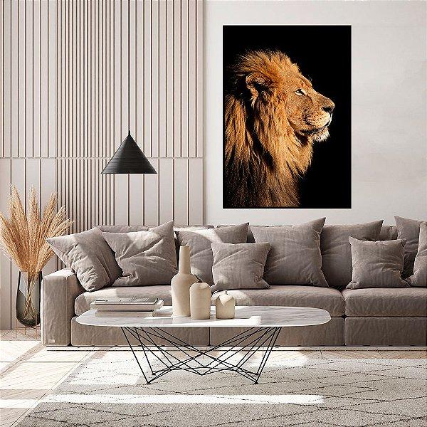 Quadro decorativo Leão Perfil