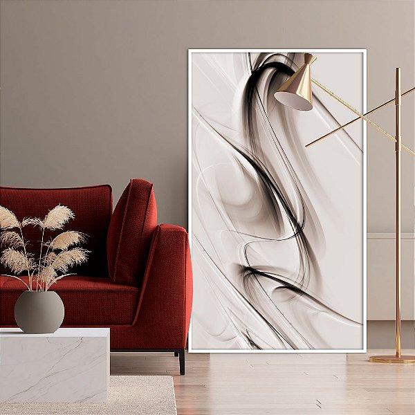 Quadro decorativo Abstrato Marrom e Bege