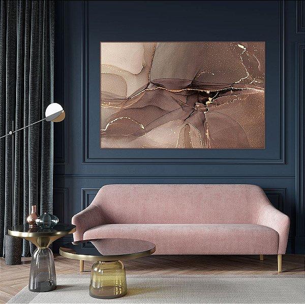 Quadro decorativo Abstrato Rose Gold