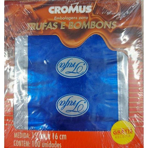 Papel Trufa 15x16cm - Tradicional Azul - 100 unidades - Cromus - Rizzo