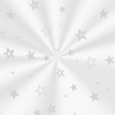 Saco Decorado Estrela Prata - 11x19,5cm - 100 unidades - Cromus - Rizzo
