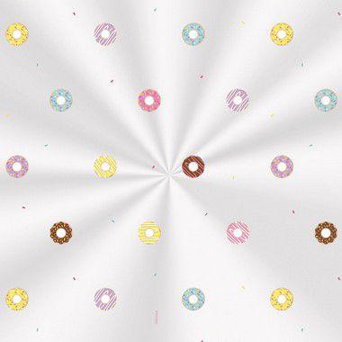 Saco Decorado Donuts - 10x14cm - 100 unidades - Cromus - Rizzo