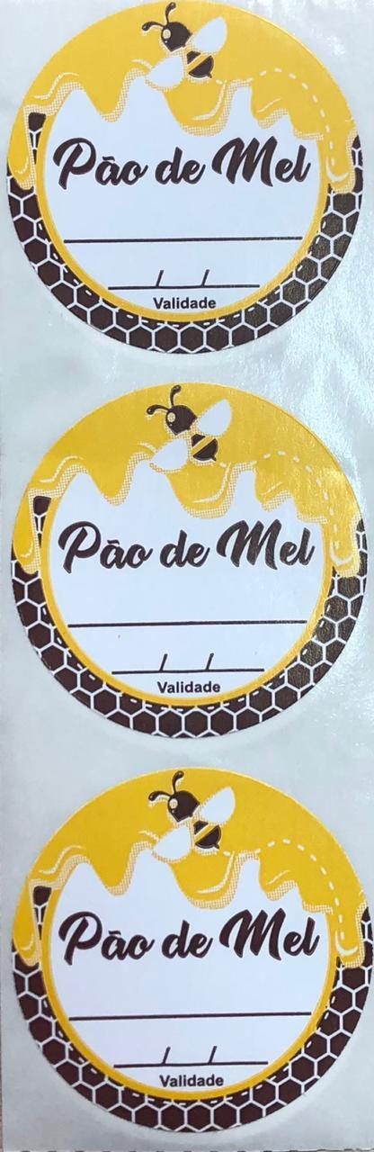 Etiqueta Adesiva Pão de Mel com 60 un. Rizzo