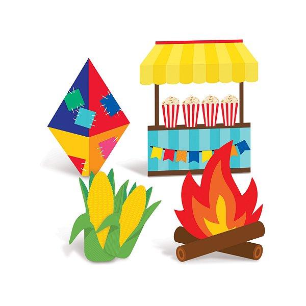 Silhueta Decorativa de Mesa Festa Junina - 04 unidadedes - Cromus - Rizzo