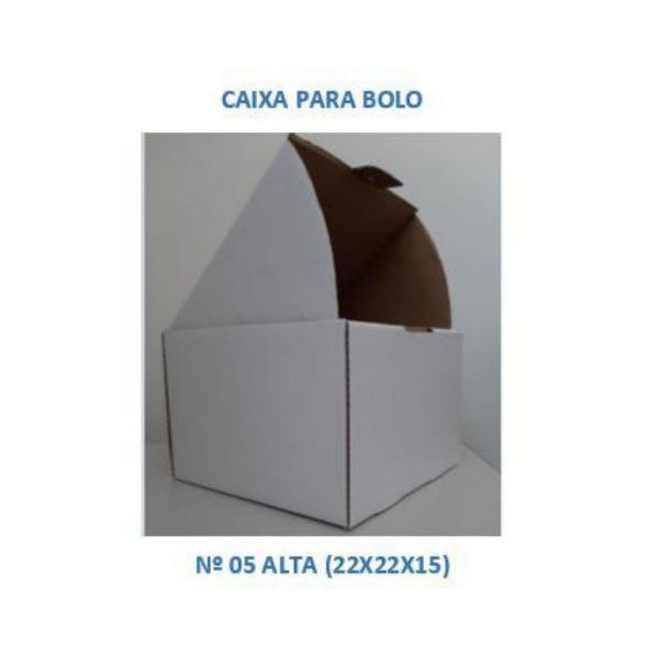 Caixa para Bolo 22x22x15 cm - Nº 05 ALTA - Niagara