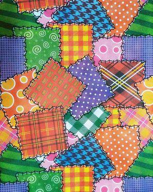 Toalha de Mesa Retalhos TNT 140x220m Festa Junina - 01 unidade - Best Fest - Rizzo