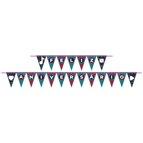 Faixa Feliz Aniversário Festa TikTok - 01 unidade - Junco - Rizzo