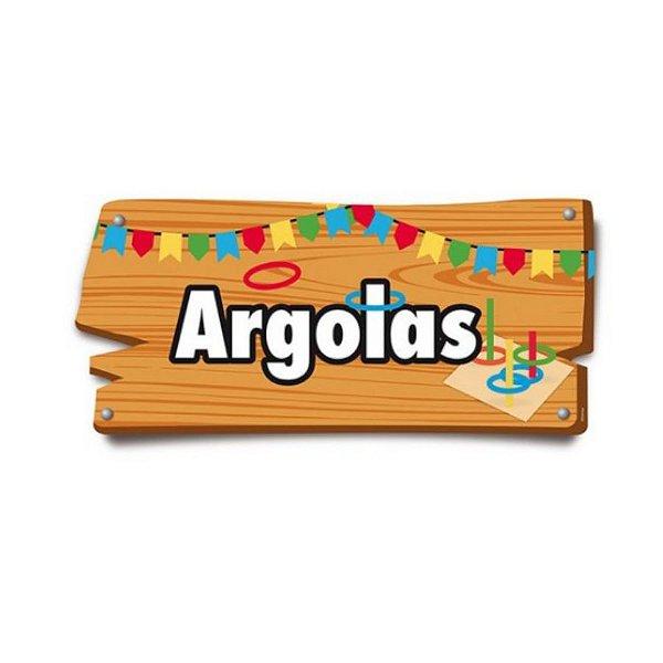 Placa de Sinalização Argolas Festa Junina - 01 unidade - Cromus - Rizzo