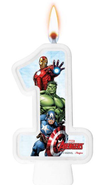 Vela Numeral Festa Avengers Game Verse - Regina - Rizzo