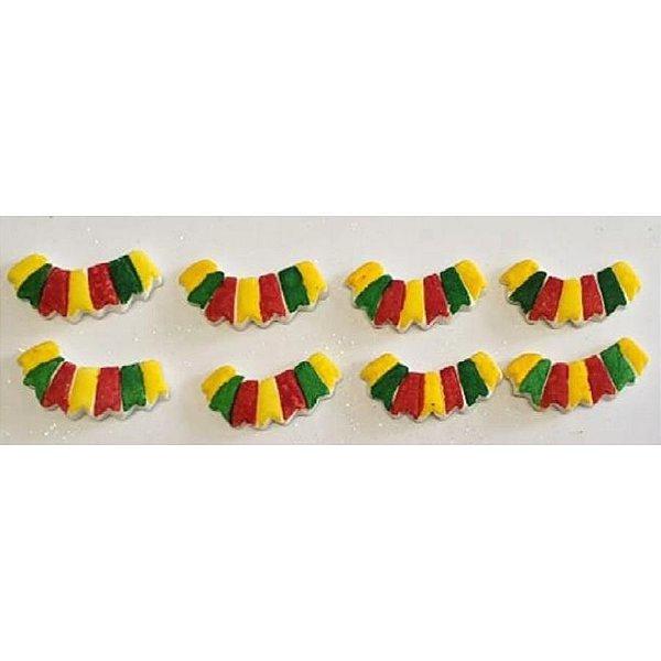 Bandeirinhas Coloridas 8un - Jeni Joni- Rizzo Confeitaria