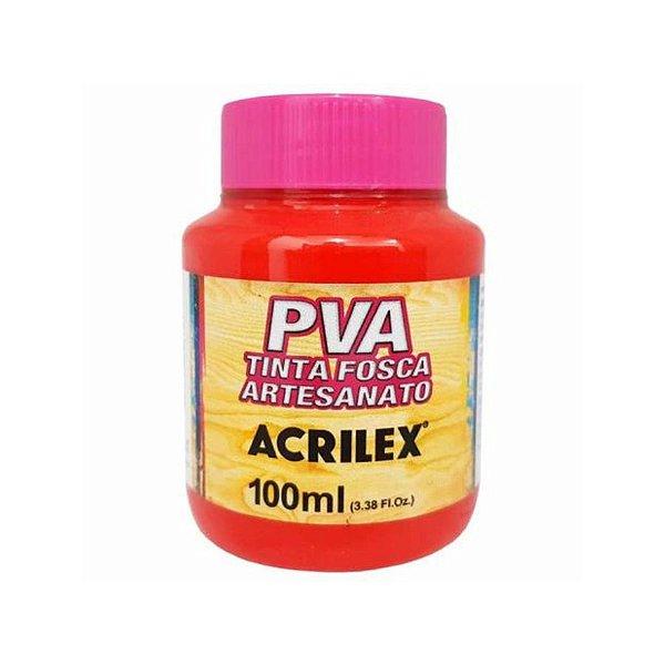 Tinta Fosca Artesanato PVA 100ml - Vermelho Vivo R5471 - 1 unidade - Acrilex - Rizzo