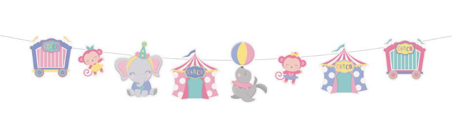 Faixa Decorativa Festa Circo Rosa - 01 unidade - Cromus - Rizzo