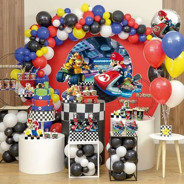Cachepot Festa Mario Kart - 8 unidades - Cromus - Rizzo Festas