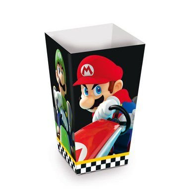 Caixa Pipoca Festa Mario Kart - 10 unidades - Cromus - Rizzo Festas