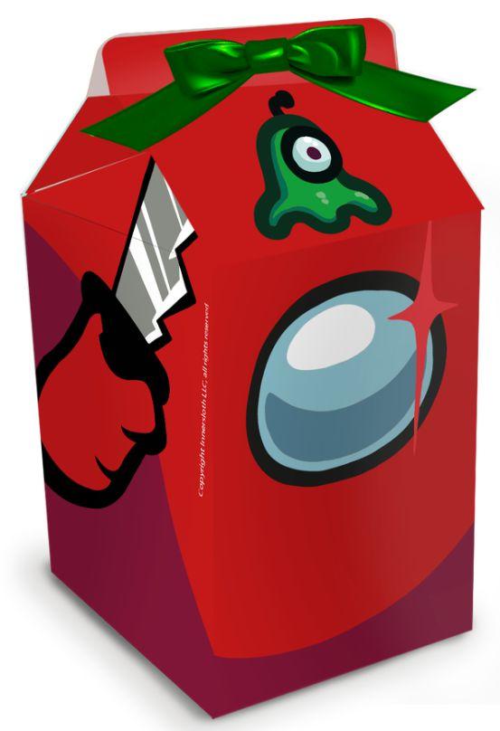 Caixa Milk Festa Among Us - 08 unidades - Festcolor - Rizzo