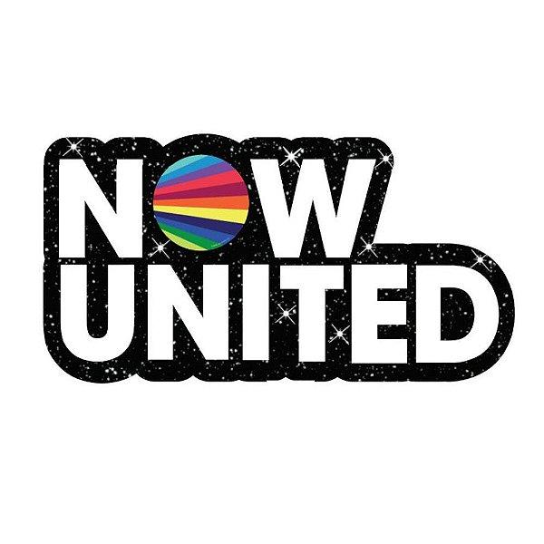 Painel Decorativo Now United em EVA - Glitter 52 x28cm -01 unidade - Piffer-  Rizzo