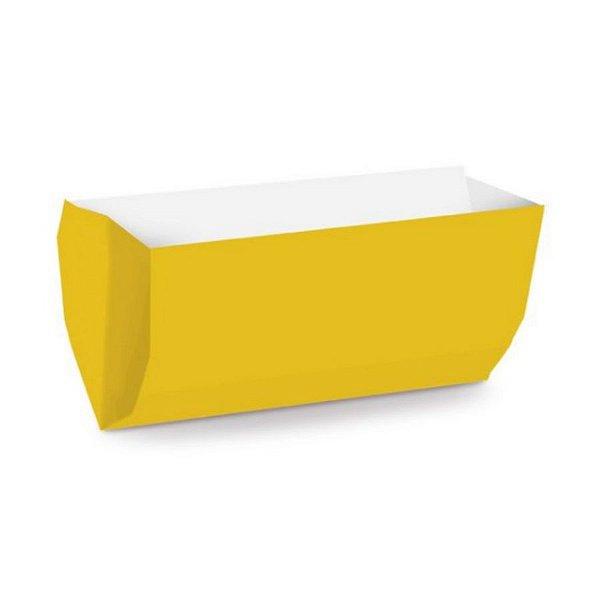 Saquinho de Papel para Hot Dog 17,5x9x5cm - Liso Amarelo - 50 unidades - Cromus - Rizzo