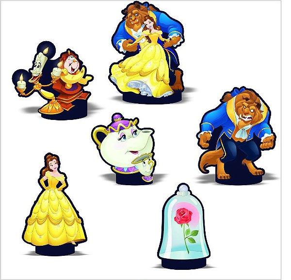 Kit Enfeite Impresso em EVA - Disney Princesa - A Bela e a Fera -01 unidade - Piffer-  Rizzo