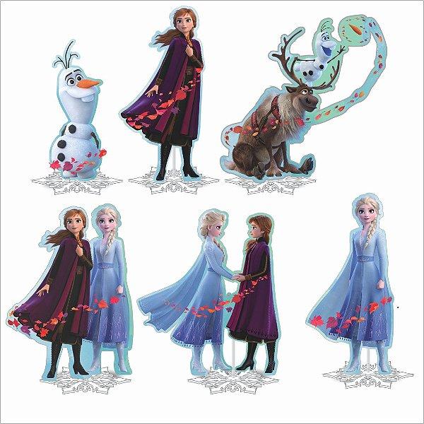 Kit Enfeite Impresso em EVA - Disney - Frozen 2 - 01 unidade - Piffer-  Rizzo