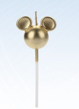Vela Mickey 360 Dourada Disney Silver Festas Rizzo