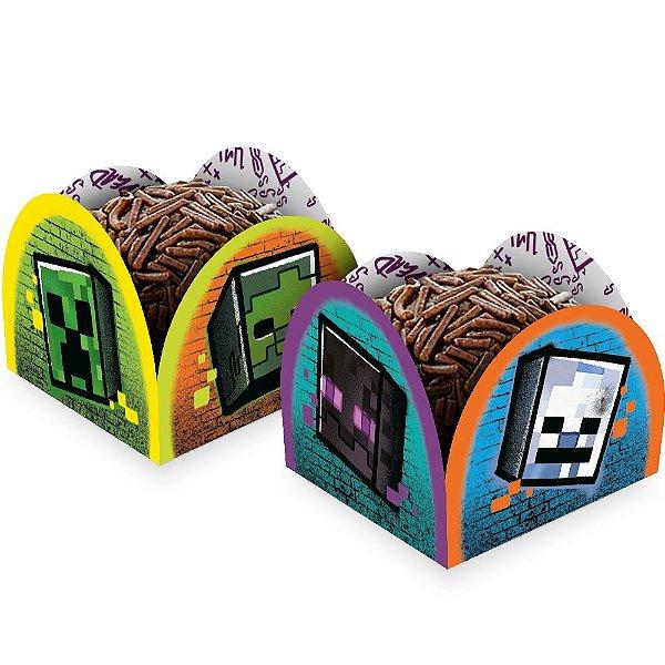 Porta Forminha - Festa Minecraft Grafite - 50 unidades - Regina - Rizzo