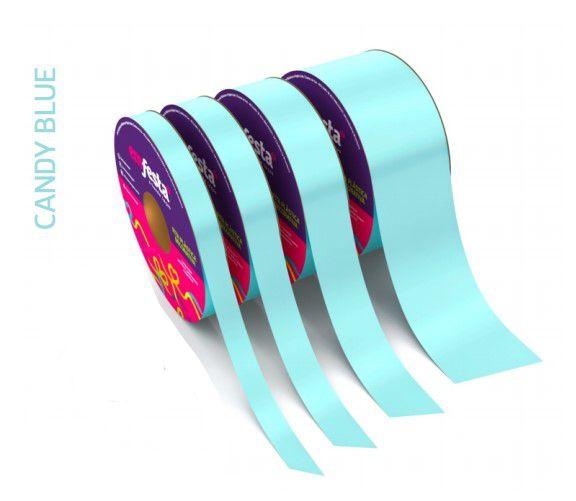Rolo Fita Lisa Candy Azul - 20mm x 50m - EmFesta