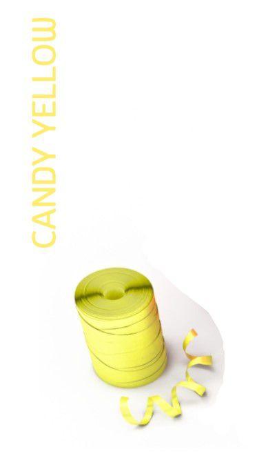 Rolo Fitilho Candy Amarelo - 5mm x 50m - EmFesta