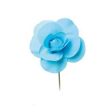 Flor Decorativa Azul 15cm - 01 unidade - Cromus - Rizzo
