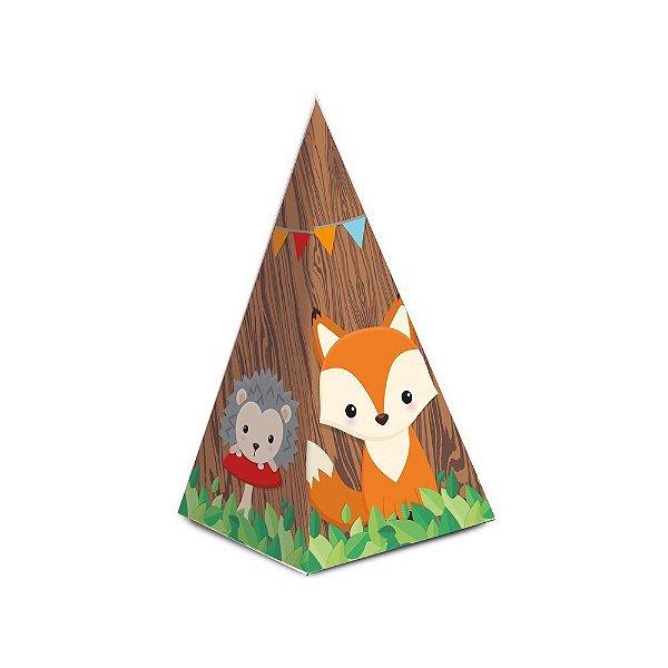 Caixa Cone com Aplique - Festa Bosque - 08 unidades - Cromus - Rizzo Festas