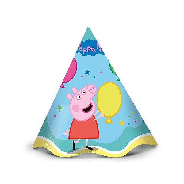 Chapéu Peppa Pig Clássica - 12 unidades - Regina - Rizzo Festas