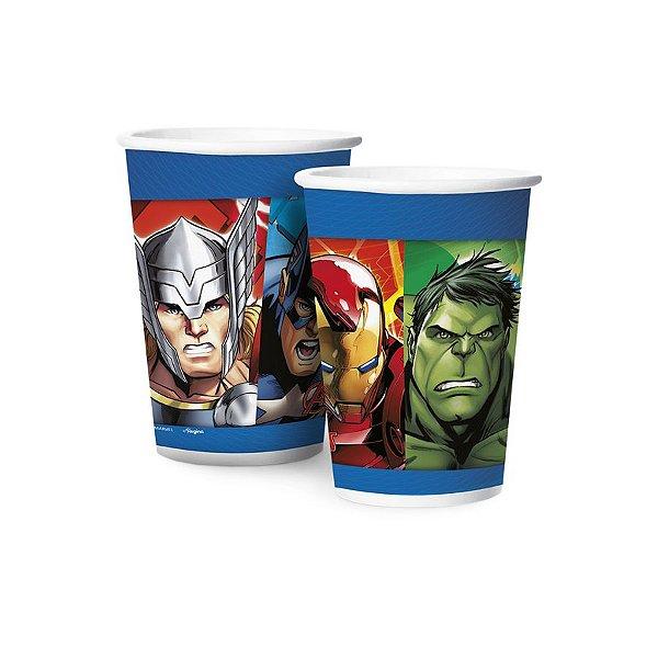 Copo de Papel 180ml - Avengers Animated - 12 unidades - Regina - Rizzo