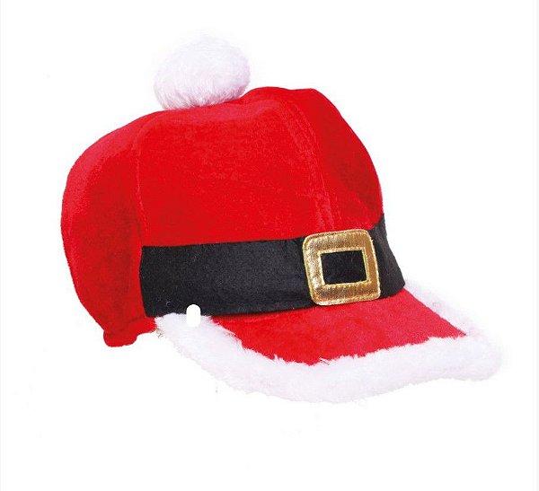 Boné Natalino Vermelho Branco e Preto - 01 unidade - Cromus Natal - Rizzo Confeitaria