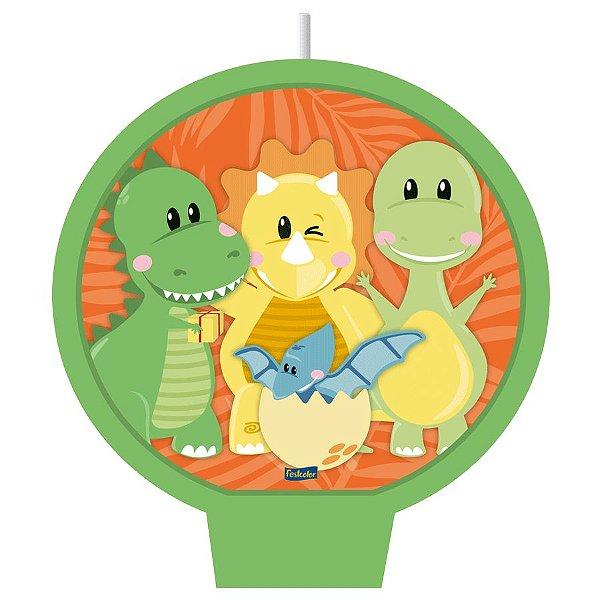 Vela Festa Dino Baby - 1 Unidades - Festcolor - Rizzo