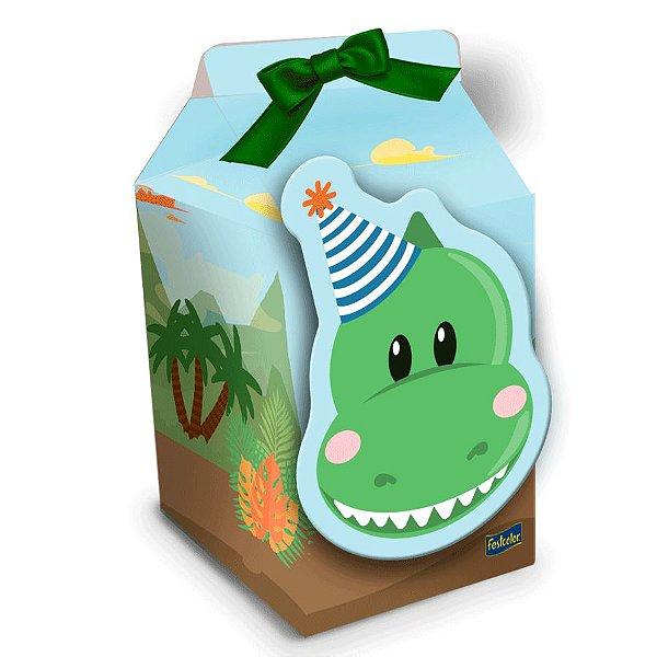 Caixa Milk Festa Dino Baby - 8 Unidades - Festcolor - Rizzo