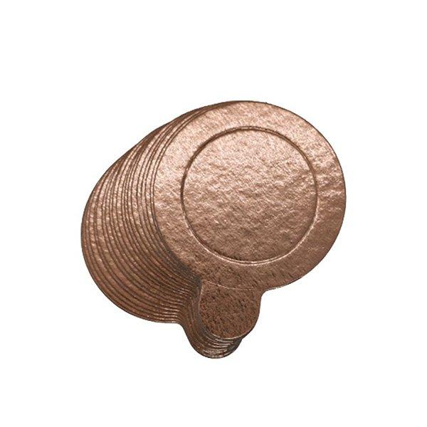Base para Doce - Rose Gold - 8cm - 20 unidades - UltraFest - Rizzo Confeitaria