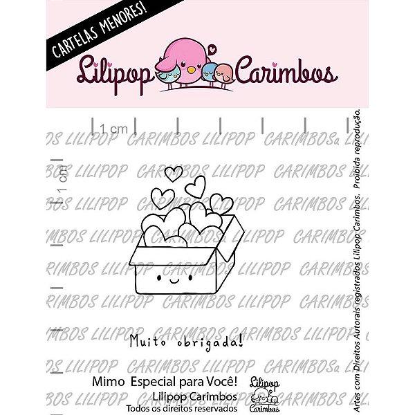 Carimbo Mini Um Mimo Especial para Voce Cod 31000065 - 01 Unidade - Lilipop Carimbos - Rizzo
