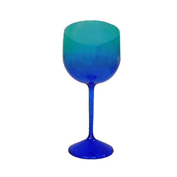 Taça Gin Acqua com 550ml Degradê Azul e Verde - Rizzo