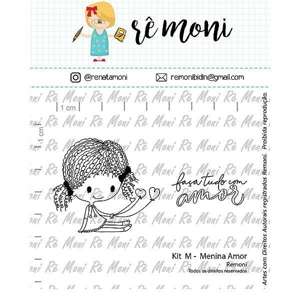 Carimbo M  Menina Amor Cod 41000068 - 01 Unidade - Lilipop Carimbos - Rizzo
