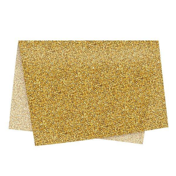 Papel de Seda - 49x69cm - Glitter Ouro - 10 folhas - Rizzo